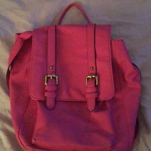 Pink  little backpack purse